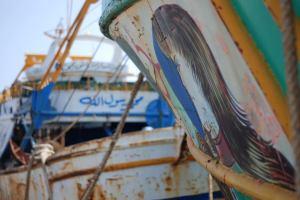 Cemetery of migrant boats in Capo Passero, Sicily. Photo by Nando Sigona